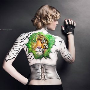 body painting evy mak'up